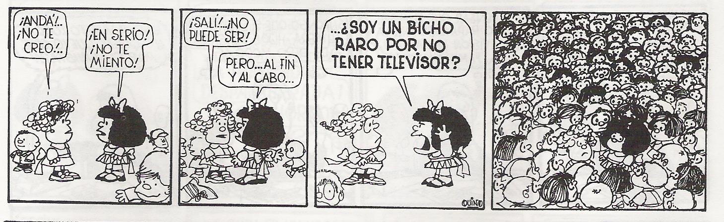 Mafalda VI: bicho raro - Usuario de los Medios