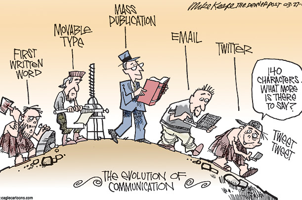 Mike Keefe: La evolución de la comunicación